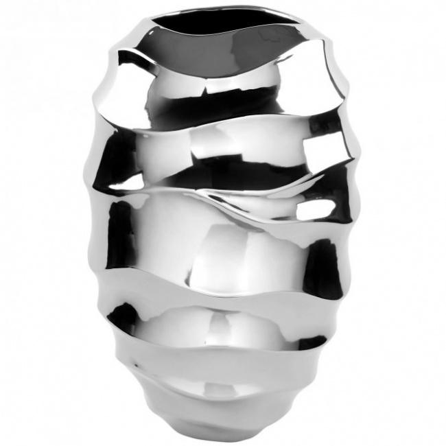 Wazon Fabia 44x29cm srebrny