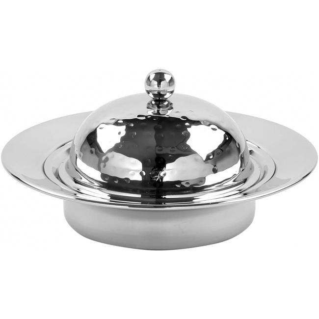Maselniczka 16x8cm srebrna
