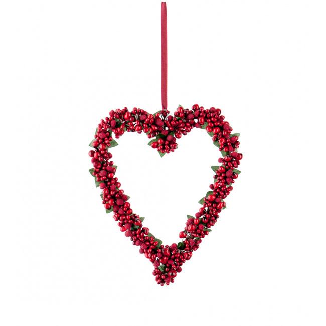 Zawieszka wianek serce