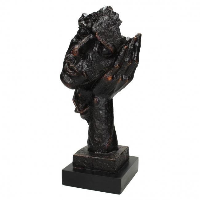 Figurka twarz 33x13x16cm czarna