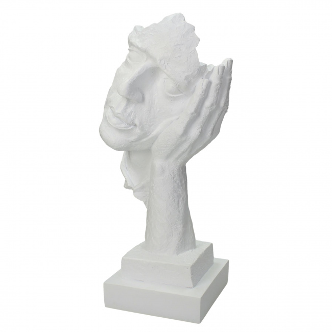 Figurka twarz 33x13x16cm biała