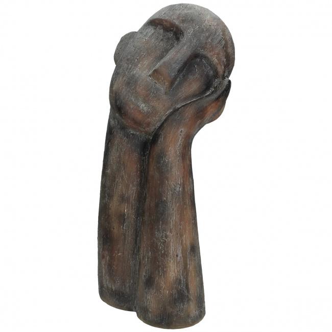 Figurka podparta głowa 40x18cm brązowa