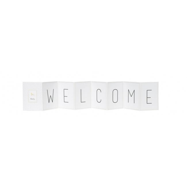 Kartka kaskadowa Baby Welcome