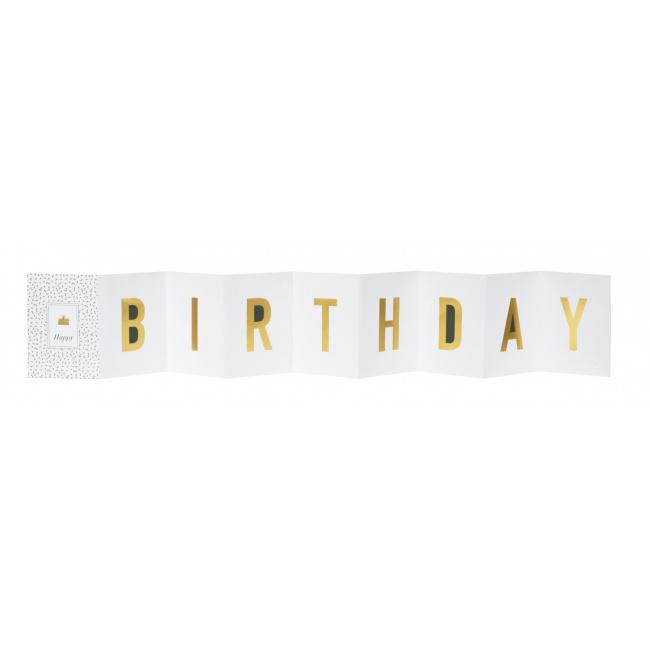 Kartka kaskadowa Happy Birthday