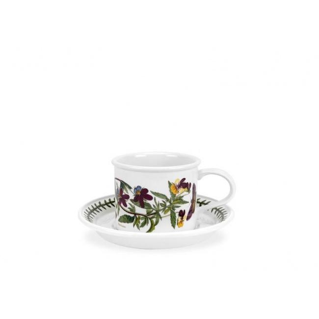 Filiżanka ze spodkiem Botanic Garden 100ml Heartsease do espresso