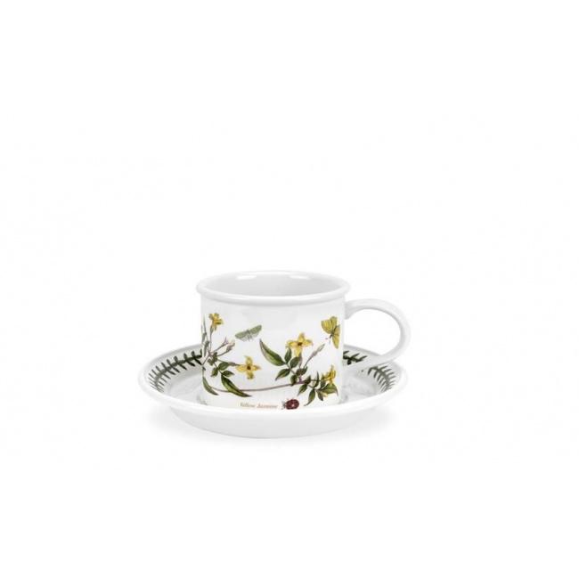 Filiżanka ze spodkiem Botanic Garden 100ml Yellow Jasmine do espresso