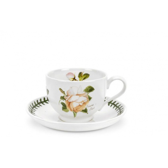 Filiżanka ze spodkiem Botanic Roses 200ml Tamora Peach