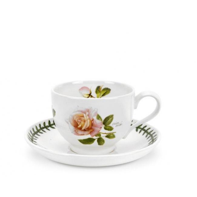 Filiżanka ze spodkiem Botanic Roses 200ml Warm Wishes