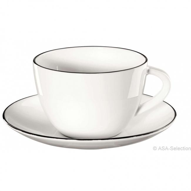 Filiżanka ze spodkiem a'Table Ligne 250ml do kawy/herbaty