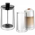 Spieniacz Coffee Time do mleka + 2 szklanki