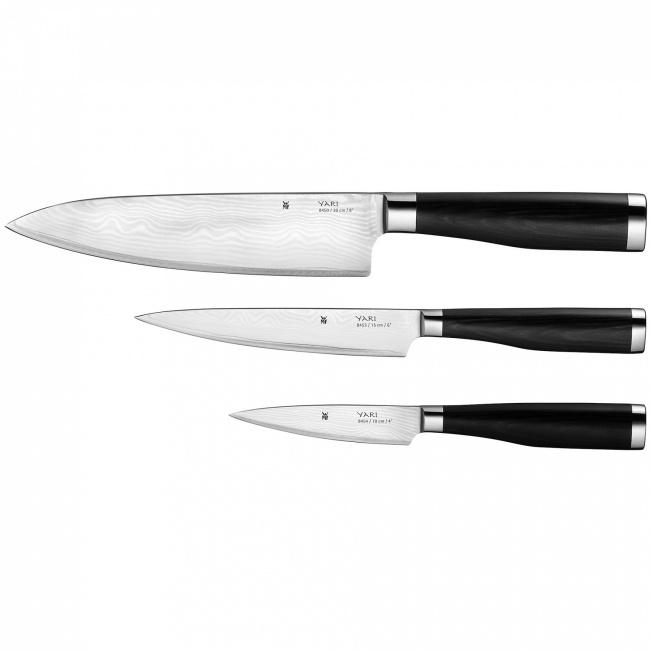 Zestaw 3 noży Yari Szefa Kuchni + uniwersalny + do warzyw