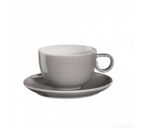 Filiżanka ze spodkiem Voyage Grey 200ml do kawy/herbaty