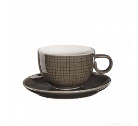 Filiżanka ze spodkiem Voyage Brown 200ml do kawy/herbaty