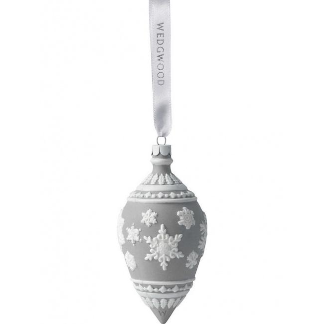 Bombka kropla Grey 7cm