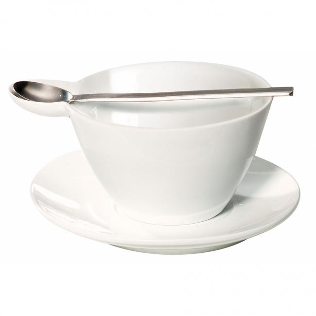 Filiżanka ze spodkiem Multicup 400ml do kawy/herbaty + łyżeczka