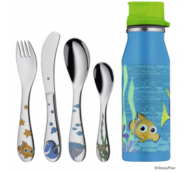 Sztućce dla dzieci Nemo + bidon 5 elementów