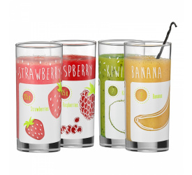 Komplet 4 szklanek 400ml do smoothie