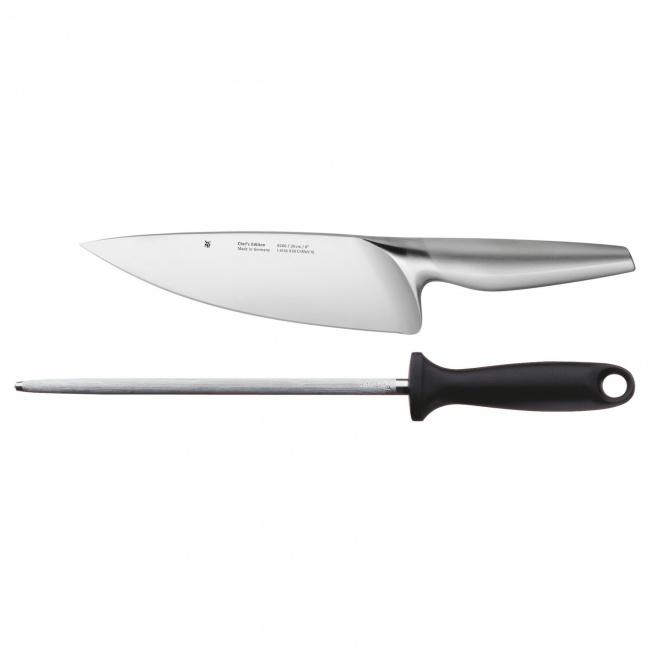 Komplet 2 noży + osełka Chef's Edition