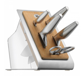 Zestaw 4 noży w bloku Chef's Edition + nożyczki