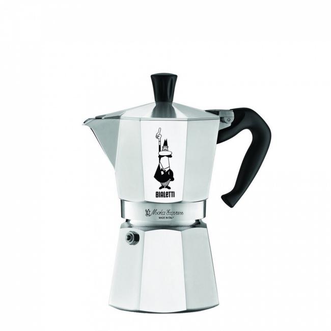 Kawiarka ciśnieniowa aluminiowa Moka Express 4-filiż.