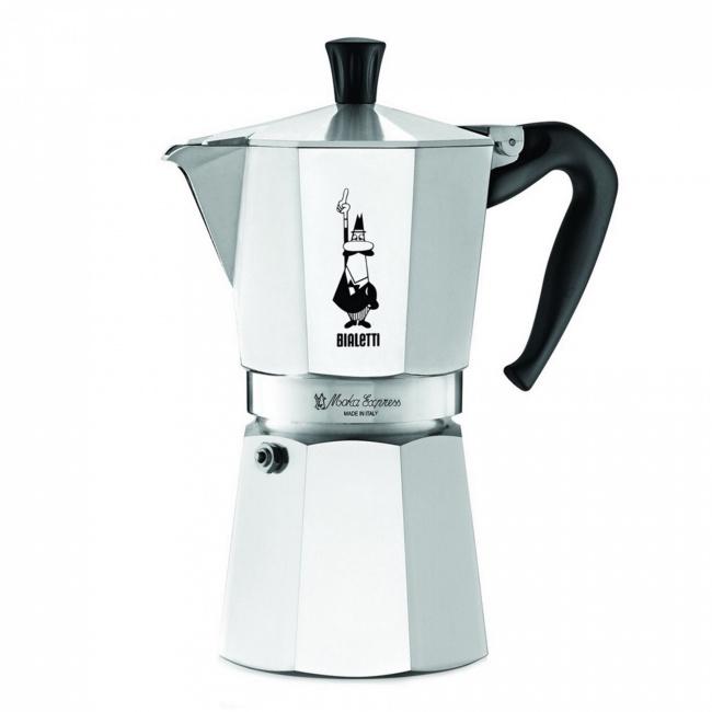 Kawiarka ciśnieniowa aluminiowa Moka Express 9-filiż.