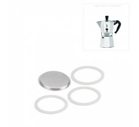 Komplet uszczelek do kawiarek aluminiowych 9-filiż.