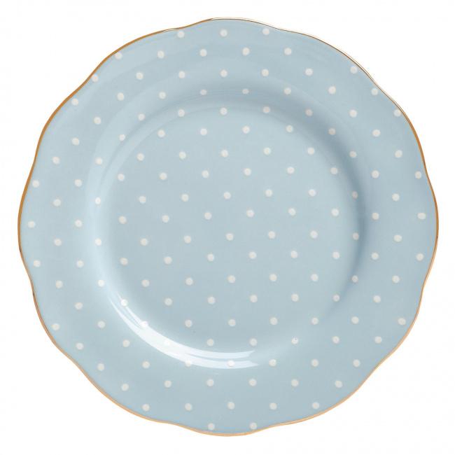 Talerz Polka Blue 20cm śniadaniowy