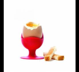 Kieliszek do jajka czerwony