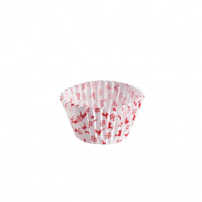Papilotki do muffinek 75sztuk czerwone S