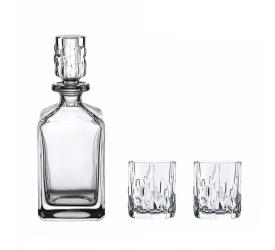 Zestaw do whisky karafka + 2 szklanki