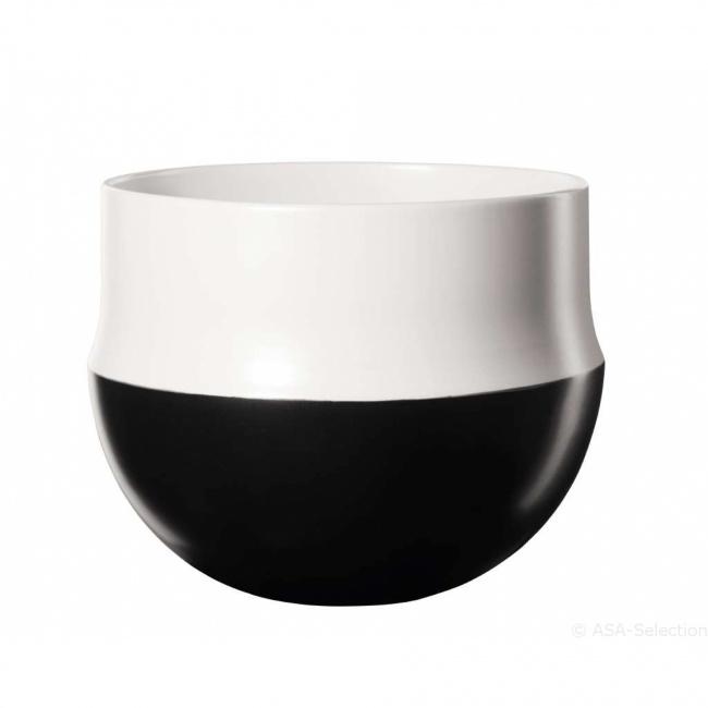 Osłonka Mabou 22,6x19,5cm czarno-biały
