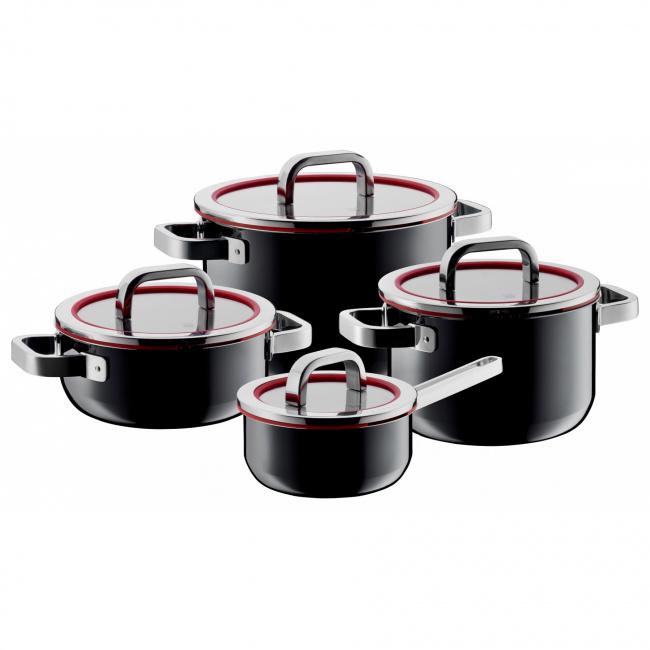 Zestaw garnków Fusiontec Functional 8 elementów czarny