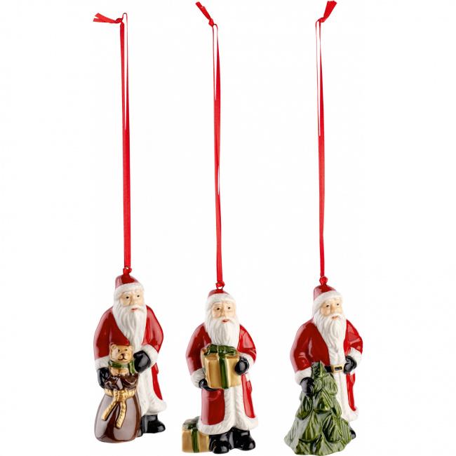 Komplet 3 zawieszek Nostalgic Ornaments św. Mikołaj