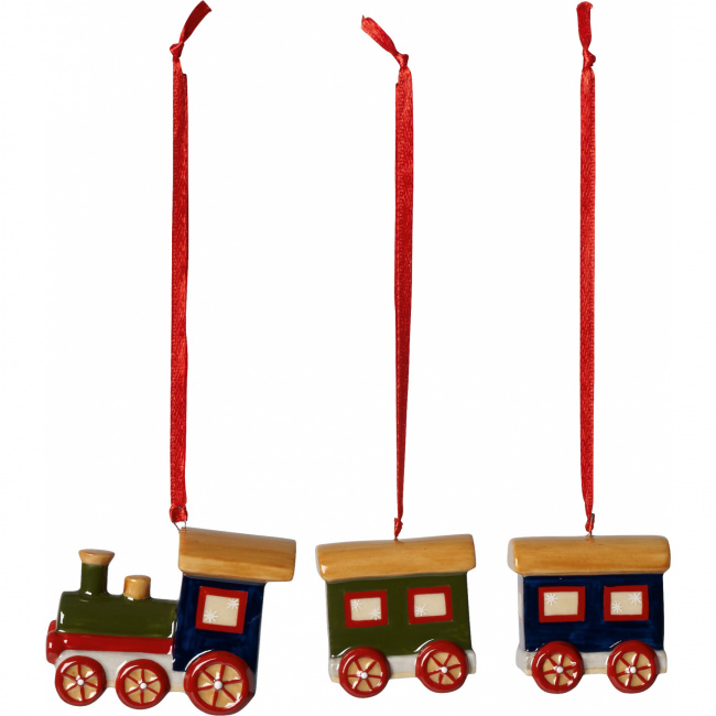 Komplet 3 zawieszek Nostalgic Ornaments pociąg