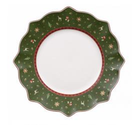 Talerz Toy's Delight 29cm obiadowy zielony