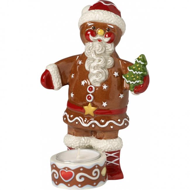 Świecznik Winter Bakery Decoration mikołaj 16cm