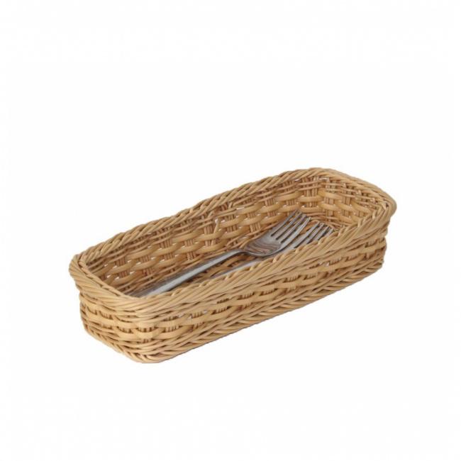 Koszyk polirattanowy 28x11,5cm na sztućce